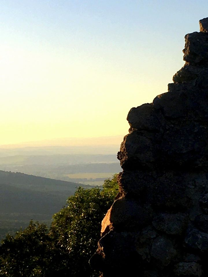 A view from a Dregely castle at Hungarian - Slovak border