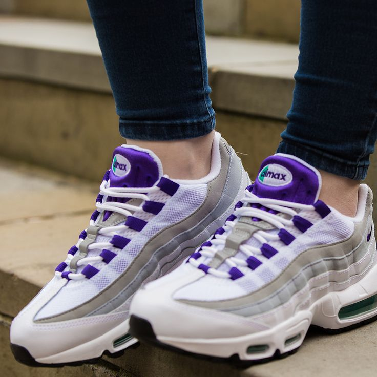 The Nike Womens Air Max 95 Trainer in 'Grape'. Also available in mens sizes.