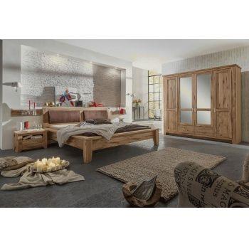 TORONTO Schlafzimmer Schrank 4-trg, Bett 200x200