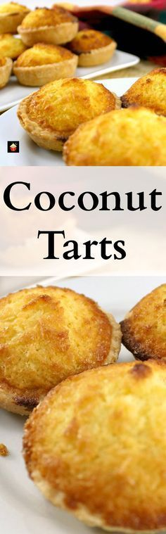 Coconut Tarts! These are a wonderful little tart, filled with a moist filling. Great for the family and if you're making these for a party, be sure to make plenty! Freezer friendly too!   Lovefoodies.com