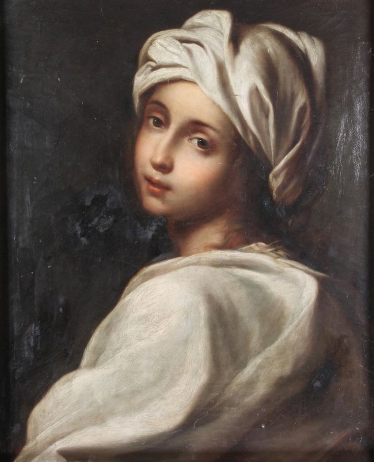"""Lot 377, 19th Century oil on canvas,  portrait of a young girl wearing a robe, unsigned 21"""" x 17"""", est £50-100"""