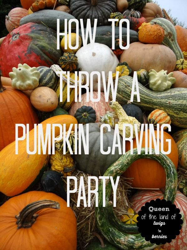 How to Throw a Pumpkin Carving Party / www.queenofthelandoftwigsnberries.com