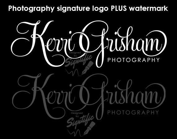 Photography logo design and a watermark photography by Signtific