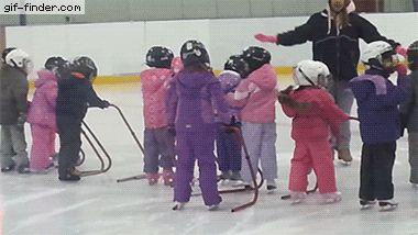 Kid ice skating fail