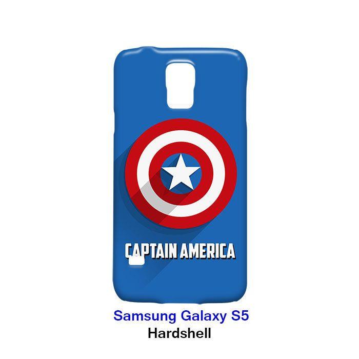 Captain America Logo Samsung Galaxy S5 Hardshell Case