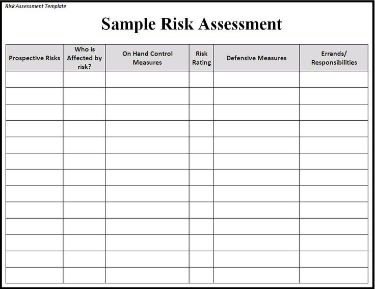 Best Risk Assessment Template Images On   Assessment
