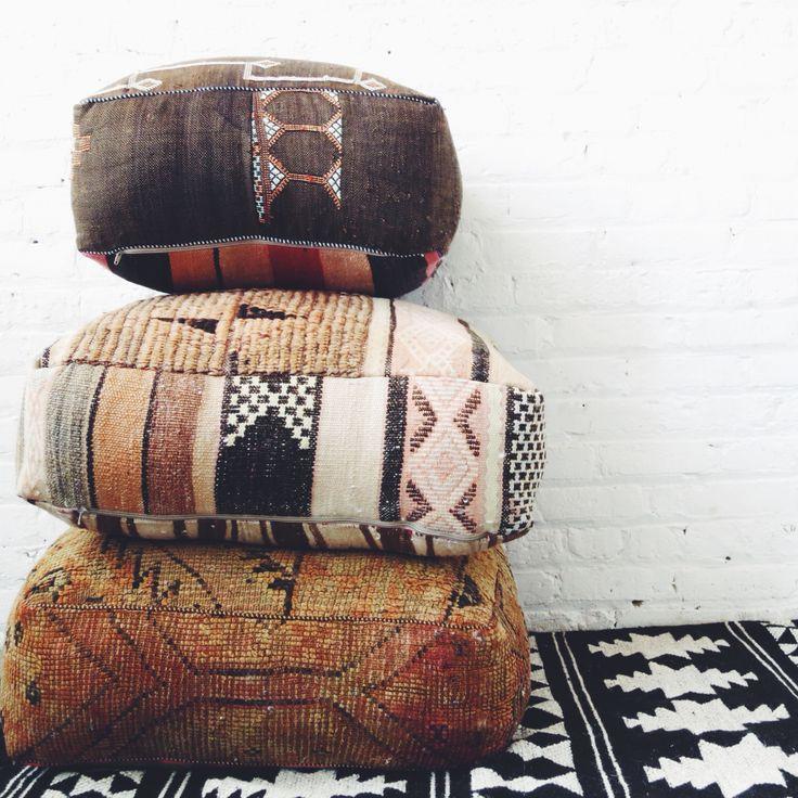 Moroccan Floor Pillows:)