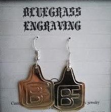 Cow Tag Earrings Livestock Brand Earrings by BluegrassEngraving