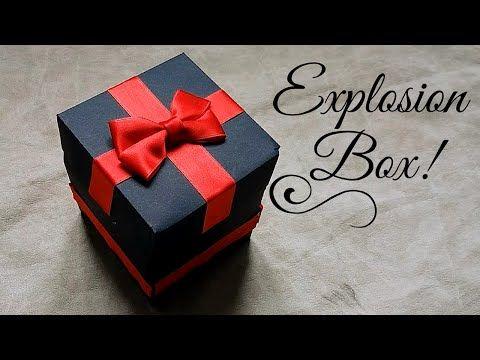 How to Make - Exploding Box Birthday - Step by Step | Eksplodujące Pudełko Urodziny Walentynki - YouTube