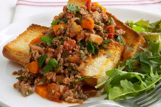 This tempting toast topper combines vegetables and minced in a medley of herbs and spices.