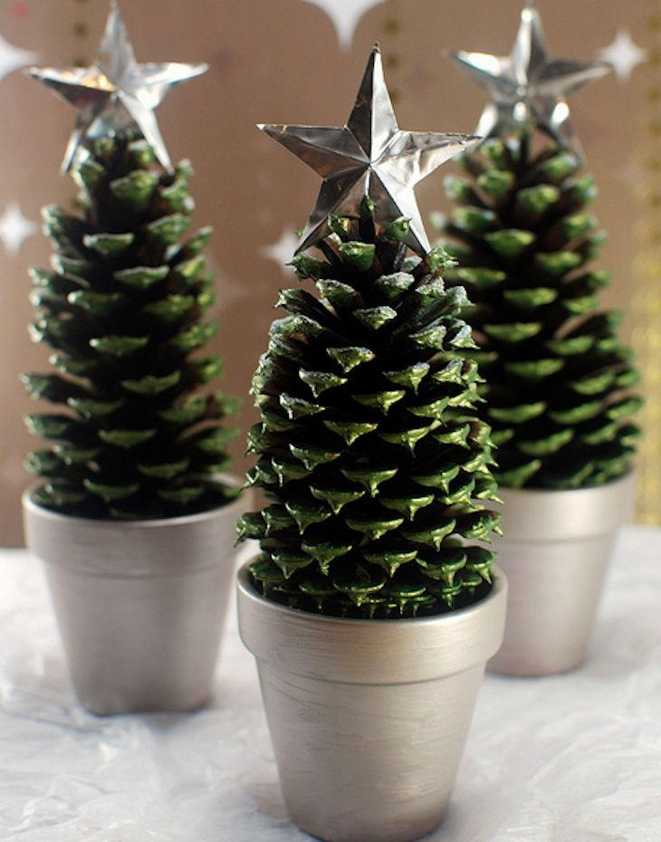 Winter Pine Cone Crafts