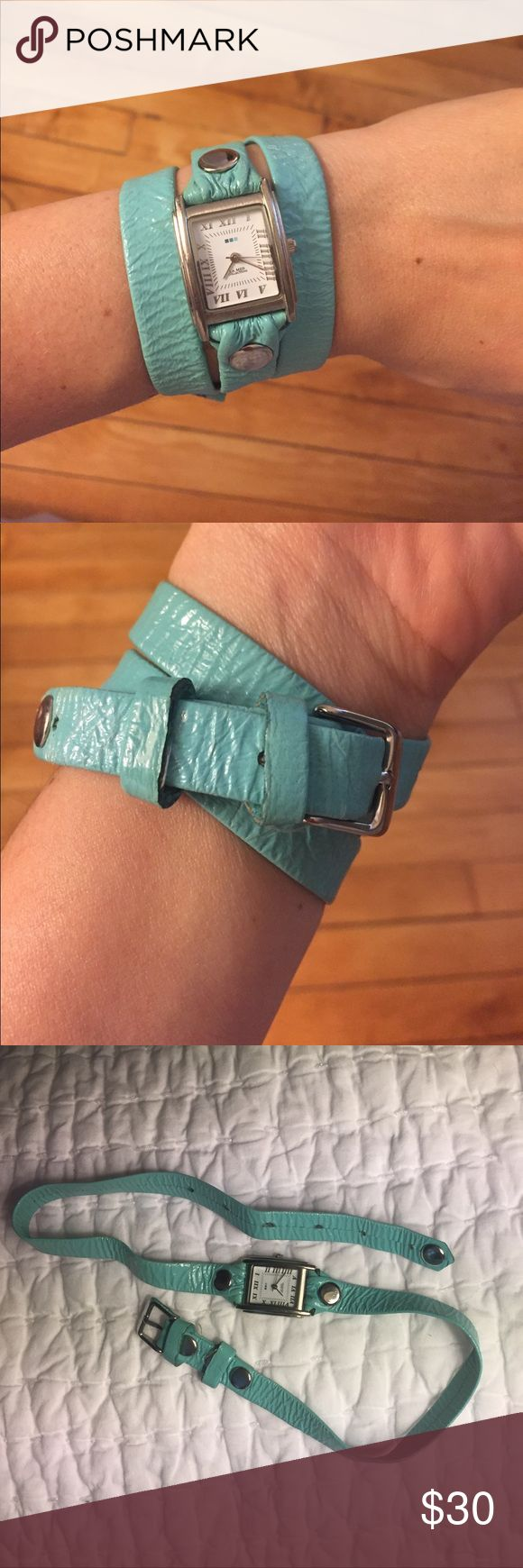 La Mer Turquoise Wrap Watch Super cute and trendy watch! It isn't new but is still in great condition, besides needing a new battery. La Mer Accessories Watches