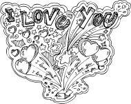 I LOVE YOU doodles