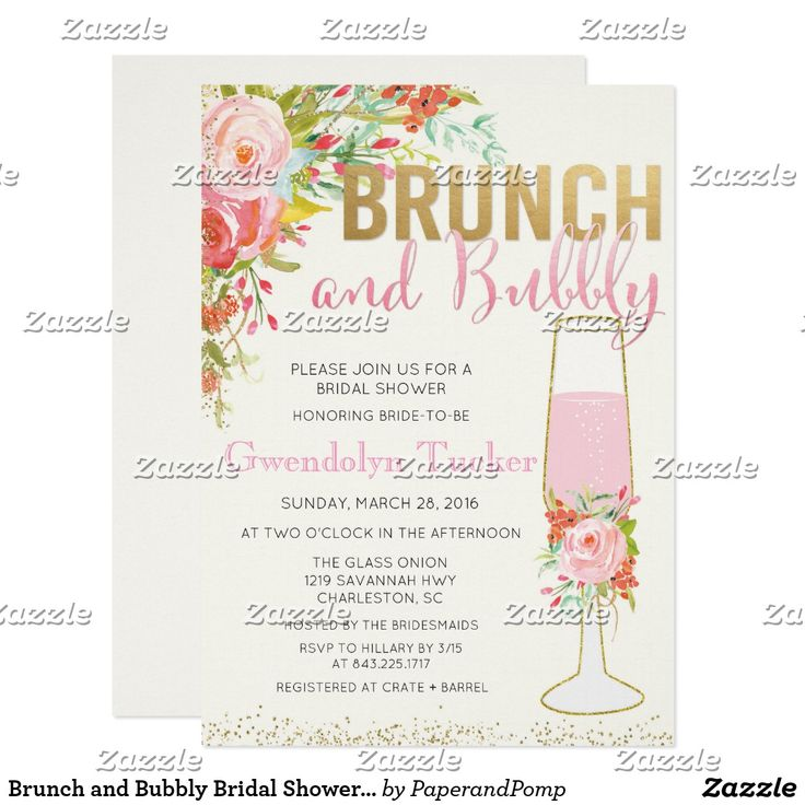 133 best BRIDAL SHOWER BRIDAL BRUNCH Invitations images on