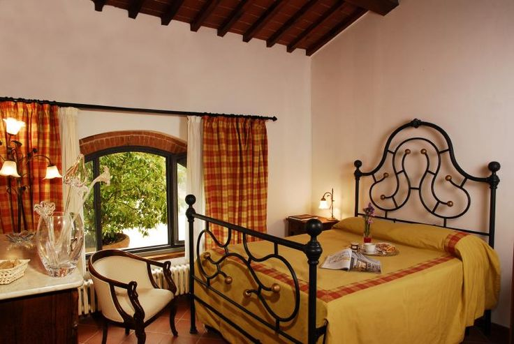 This is one of the 3 bedrooms In Limonaia apartment very cozy in a perfect Tuscan Style more picture on www.lupinari.com