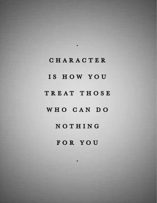 How You Treat The Weak Is Your True Nature