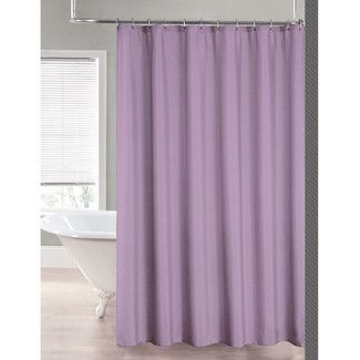 Found it at Wayfair - Sweet Home Collection 2-in-1 Waterproof Shower Curtain - Color: Lavender
