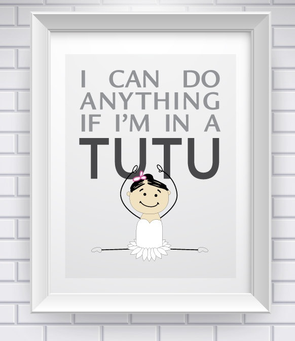 Tutu Power! How cute for a kids room? .....or my room....I may not be a kid but tutus still have magical powers
