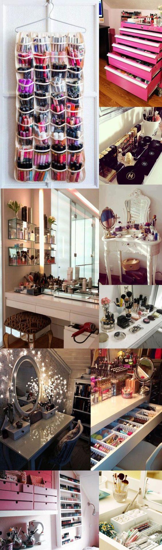 Les 25 meilleures id es de la cat gorie pinceau de - Organisateur de maquillage ...