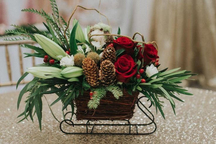 Christmas Sleigh | CALGARY FLOWERS- Calgary Delivery- CREATIVE EDGE FLOWERS NE