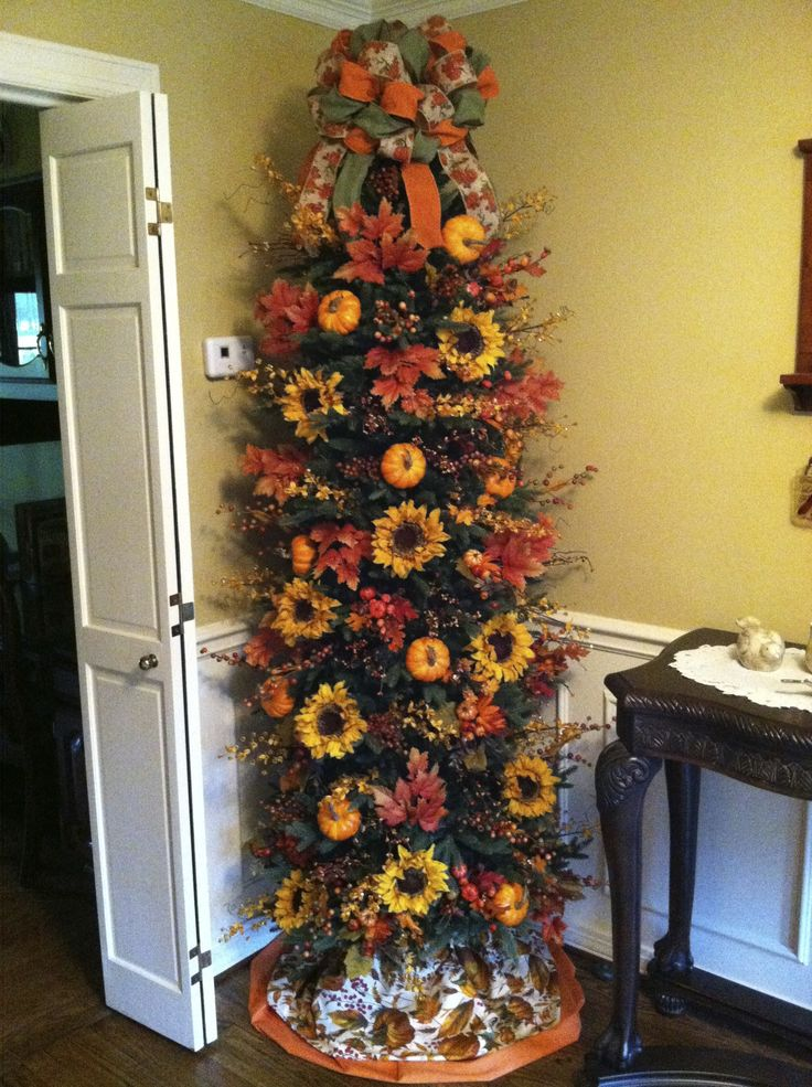 fall decorated trees | beautiful fall tree my friend decorated herself ! | Fall
