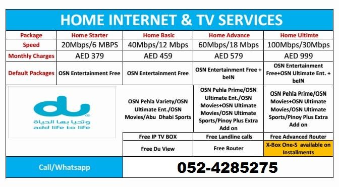 Du Wifi Home Internet Free Installation 10 Monthly Discount Free Wifi Router Free Landline Connection Free Tv Ch Free Tv Channels Home Internet Wifi
