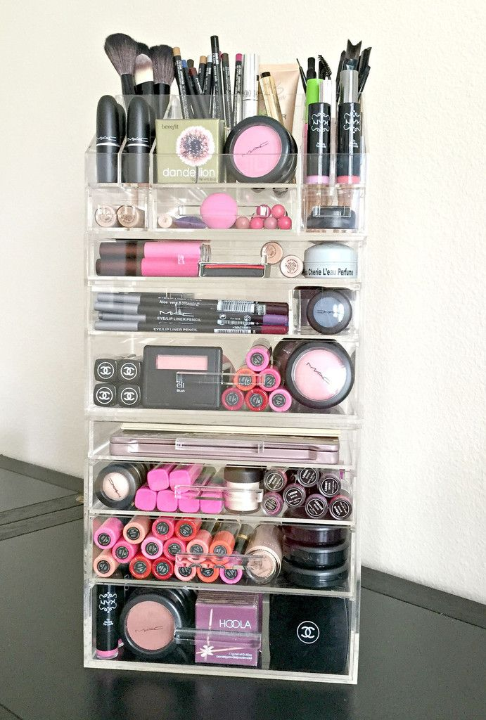 Acrylic Makeup Organizer Large 7 Drawer Plus Storage