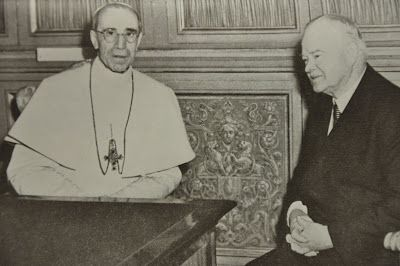 Pope Pius XII and President Herbert Hoover