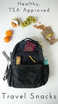Travel Tips :: A full list of TSA approved carry-on foods. Use this list to chose some healthy alternatives to expensive airport junk food. Click through for the full list! Know someone looking to hire top tech talent and want to have your travel paid for? Contact me, carlos@recruiting...