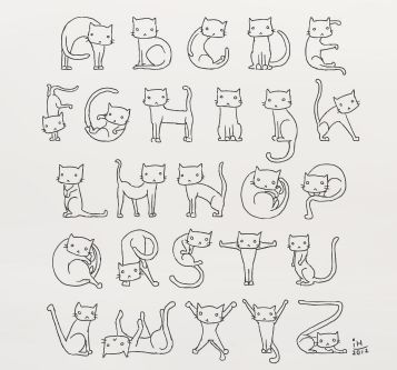 Cat Alphabet. Am I weird for loving this?