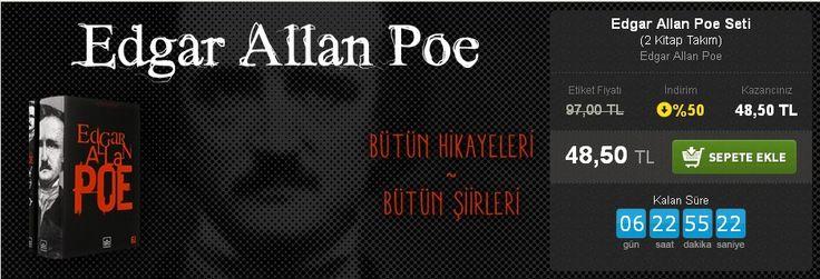 Günün Fırsatı: %50 İNDİRİM!  Edgar Allan Poe Seti (2 Kitap Takım) Edgar Allan Poe İthaki Yayınları  http://www.hesapkitap.com/edgar-allan-poe-seti-194.html