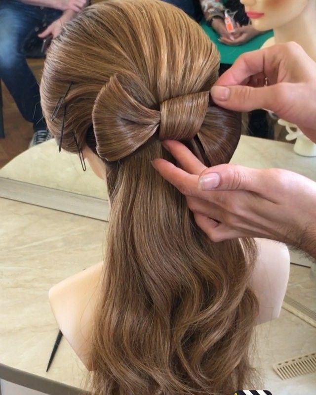 """Мастер-класс для моих поклонников. Пошаговое исполнение элемента """"Бант"""". Я думаю эта прическа идеально подойдёт для выпускного бала.__________________________________________________________ Step by step master-class for my followers. To my mind this hairstyle will perfectly suits to proms."""