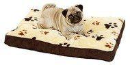 Aus der Kategorie Betten  gibt es, zum Preis von EUR 23,44  Ganz entspannt schlafen! Kuscheliges und weiches Kissen aus Plüsch. In eckiger Form und mit trendigem Pfotenmotiv. Der Bezug hat einen Reißverschluss und lässt sich bei 30 °C waschen.