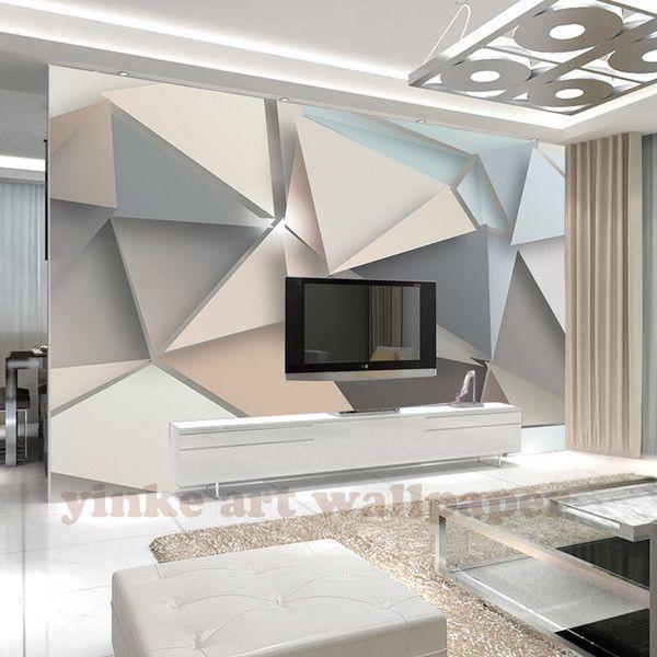 Custom Photo Wallpaper 3d Stereoscopic E Wallpapers Modern 3d Large Mural Living Room Sofa Tv Backdro In 2020 3d Wallpaper Home Custom Photo Wallpaper Living Room Sofa
