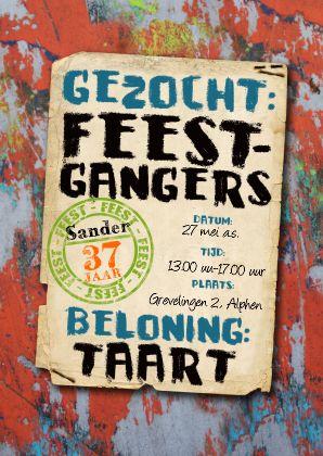 YVON graffiti uitnodiging mannen tiener - Uitnodigingen - Kaartje2go