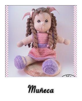 patron gratis amigurumi muñeca