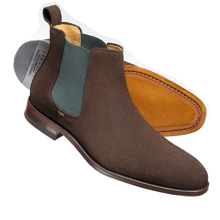 Brown Atterton suede chelsea boots