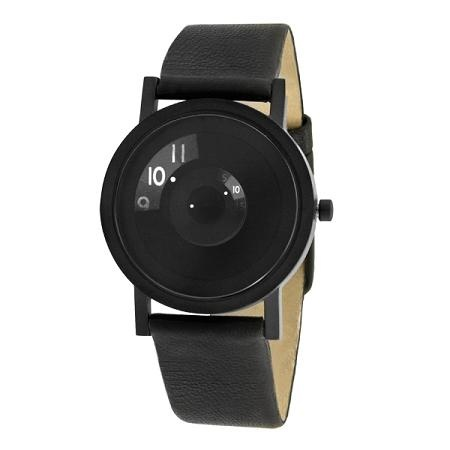 Reveal Watch / designed by Daniel Will-Harris7203 Unisex, Daniel Willharri, Projects 7203, Black Leather, Harry Watches, Leather Straps, Reveal Watches, Products, Stainless Steel