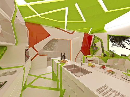 Cubism in the Kitchen by Gemelli Design Studio Photo