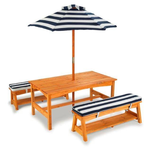 Kidkraft Gartentischset Mit Bank In 2020 Tische Im Freien Gartenmobel Sets Kinder Tisch Und Stuhle