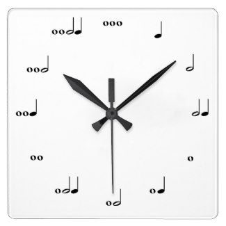 The Original Music Note #Clocks This clock tells time in rhythm. Each number is represented by notes that make up the appropriate number of beats. Great for music-lovers and kids learning how to read music! #GiftIdeas #music #USA #JPN #MEX #GER #FRA #CAN #ENG #worldwide