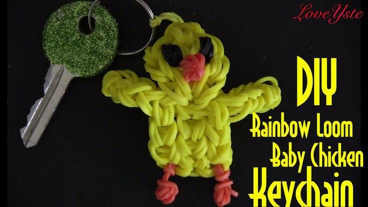 Rainbow Loom Denmark - Baby Chicken Keychain