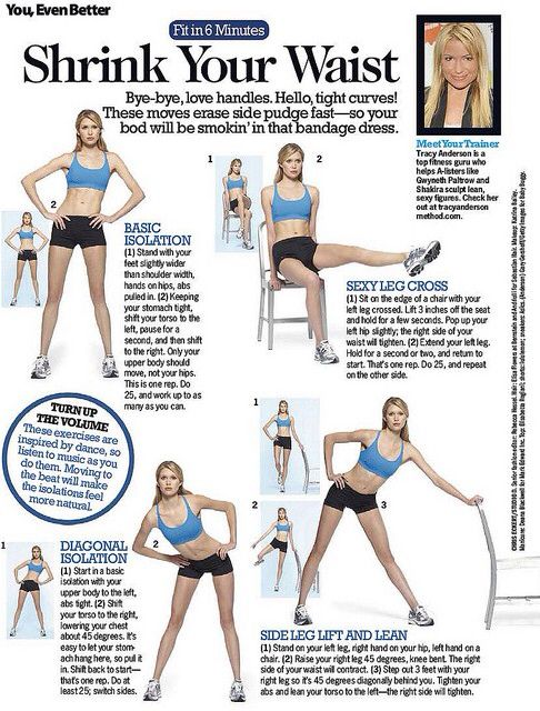 Shrink your waist with these moves from Tracy Anderson