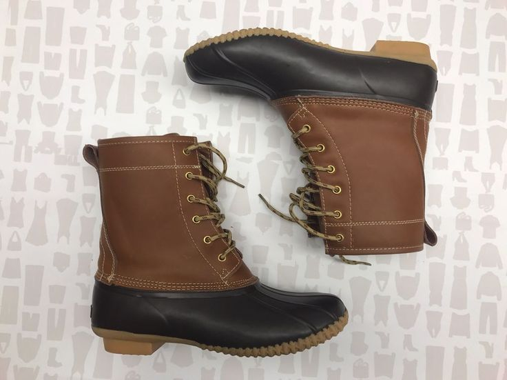 Khombu Womens Brown Letty Duck Boots Size 10    eBay