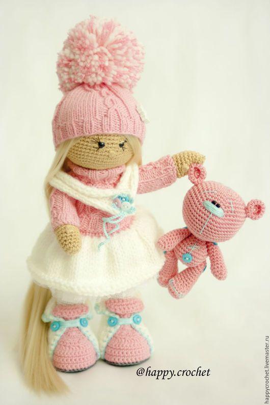 Коллекционные куклы ручной работы. Ярмарка Мастеров - ручная работа. Купить Зефирочка. Handmade. Розовый, кукла в подарок, мишка в подарок