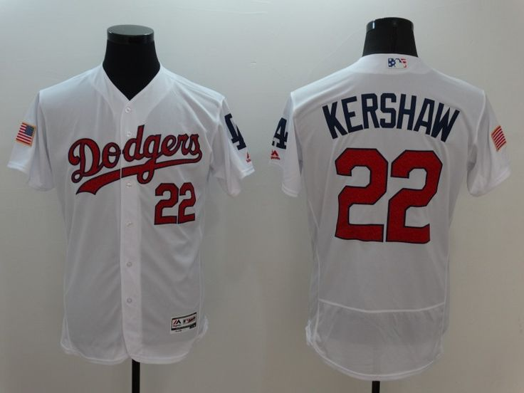 18d1c0d71 Flexbase Authentic Collection Stitched MLB Jersey. Dodgers 22 Clayton  Kershaw White Stars ...