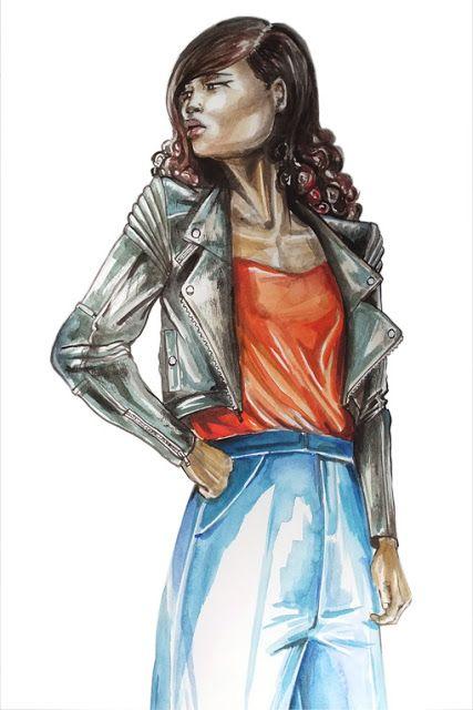 Fashion Illustration, Watercolour