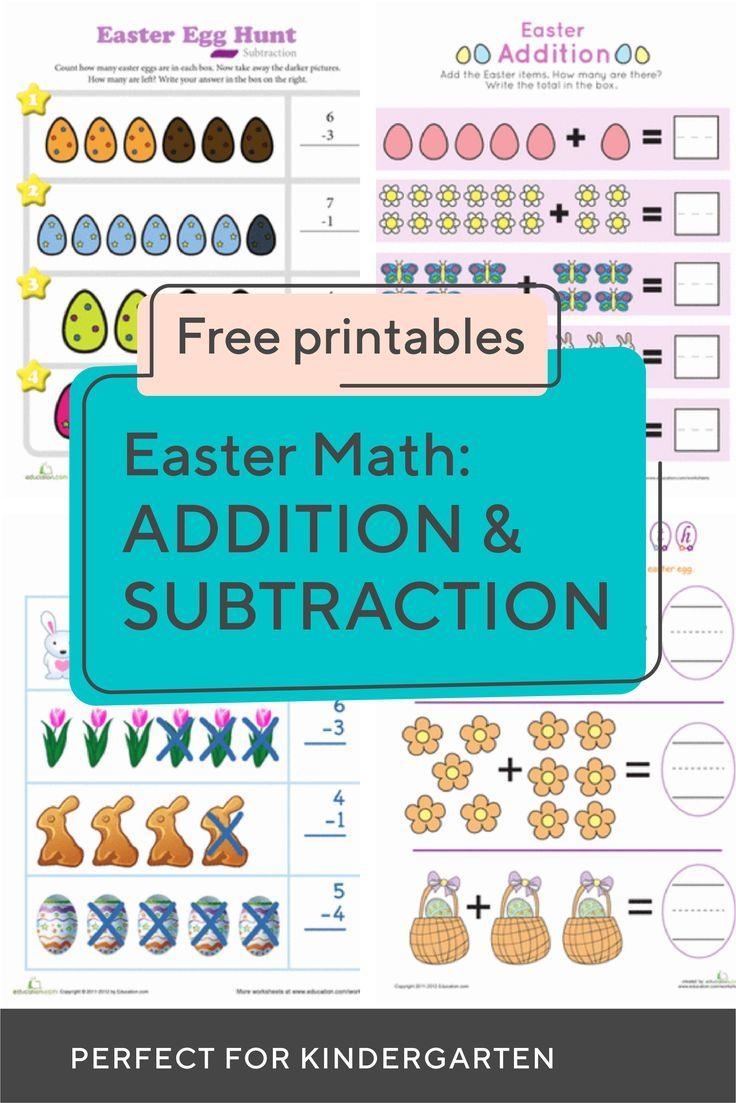 Spring Into The Season With This Collection Of Kindergarten Easter Additio Kindergarten Subtraction Worksheets Subtraction Kindergarten Teaching Subtraction [ 1103 x 736 Pixel ]