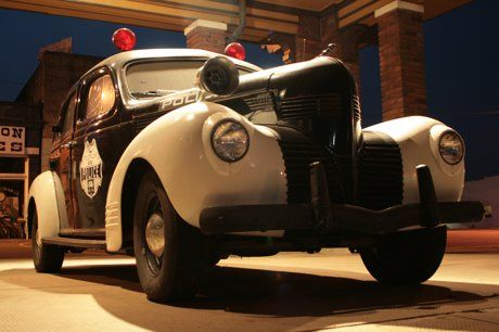 This old police car sits under a carport at the old Mena Depot. It is quite an icon. If a car can be a landmark, it is one..