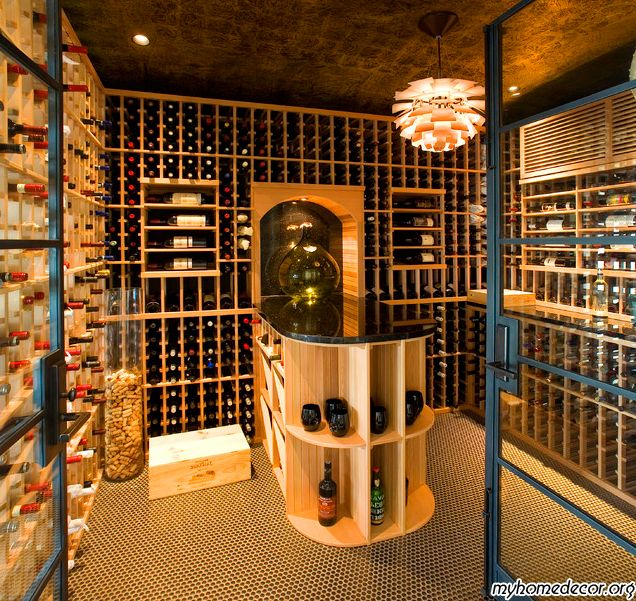 Wine cellar plans wine cellar design ideas my home for Wine cellar pinterest